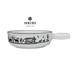 Caquelon Blanc décor Alpes Heidi