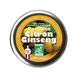 Pastilles bio citron et ginseng - Boite 45g