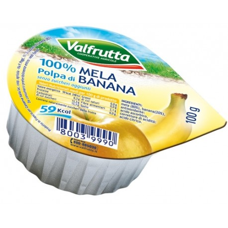 Valfrutta normale polpa di Mela e Banana gr. 100